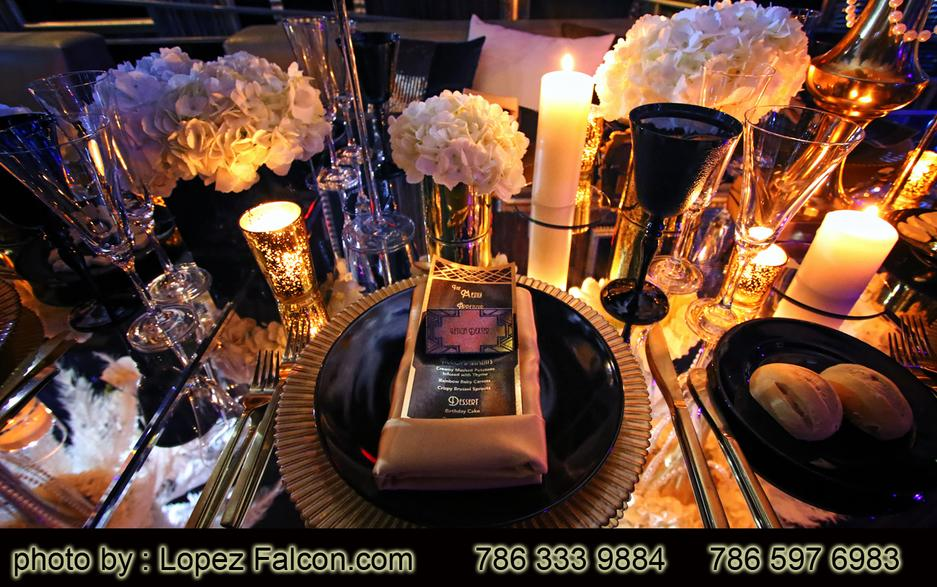 The Great Gatsby Quinceanera Party Quinces Parties Graet Gatsby Decoration Table center Stage Miami