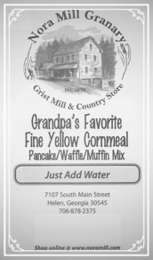 Nora Mill Grandpa's Favorite Fine Yellow Cornmeal Pancake Mix