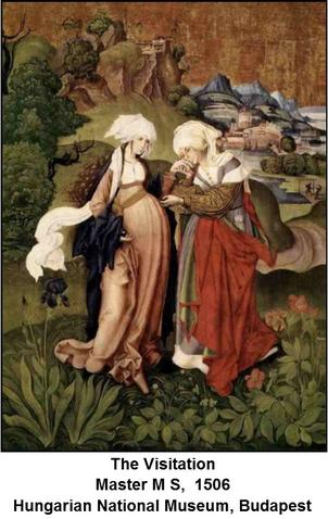 The Visitation by Master M S, 1506, Hungarian National Museum, Budapest