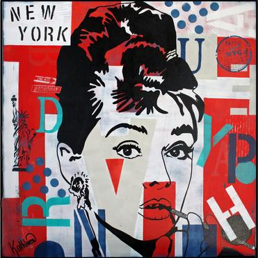 Audrey Hepburn «NYC» 36'x36' Inches