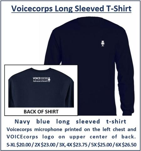Voicecorps navy blue long sleeved t shirt