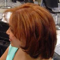 copper red brown hair color with golden blonde highlights