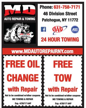 MD Auto Repair and Towing Patchogue Coupons
