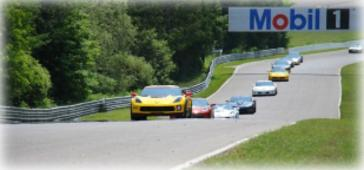 The Corvette parade lap at Canadian Tire Motorsport Park, north of Bowmanville, Ontario