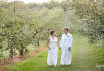 Two Brides Just pronounced Wives! At Minnetonka Apple Orchards