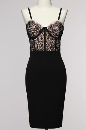 Black Blush Bodycon Dress