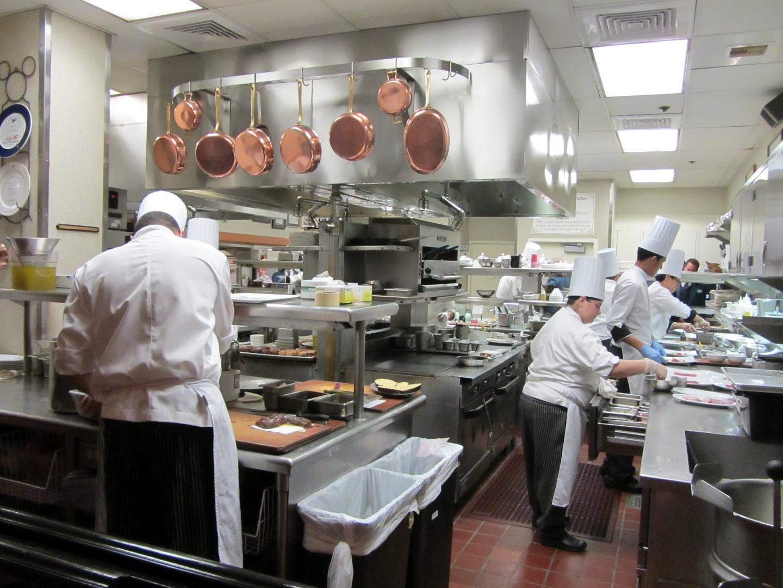 Busy Restaurant Kitchen markets served