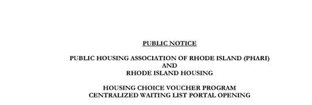 Section 8 Public Notice