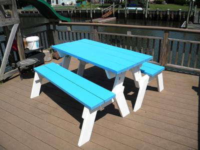 How To Make A Convertible Picnic Table That Folds Into Bench Seats