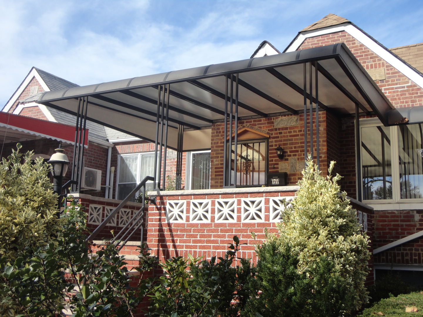 on best awnings awning with porch front trend using designs home design depot door for mobile decor ideas