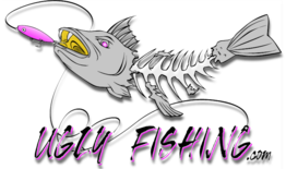 ugly fishing llc logo fish skeleton