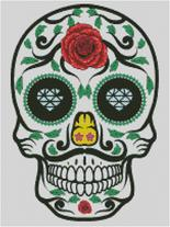 Cross Stitch Chart of Sugar Skull No 10