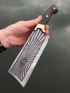 How to easily make this 3d Optical illusion etched Cleaver with basic tools. www.DIYeasycrafts.com