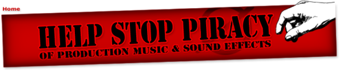stop piracy logo and link
