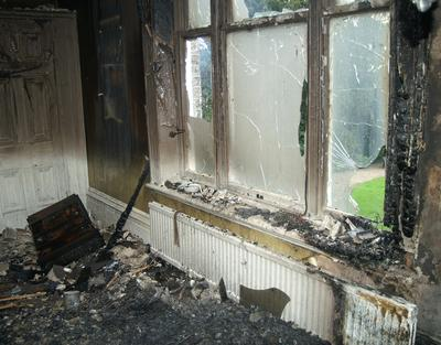 Internal fire damage to house that Protek Restoration can help fix up.