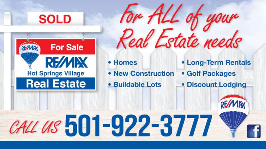 REMAX Real Estate in Hot Springs Village - For ALL of your Real Estate Needs