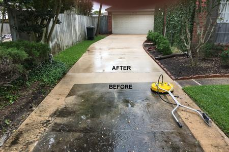 driveway pressure washing in Houston Texas
