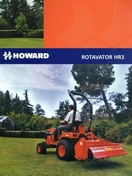 Howard Rotavator Model HR3 Brochure