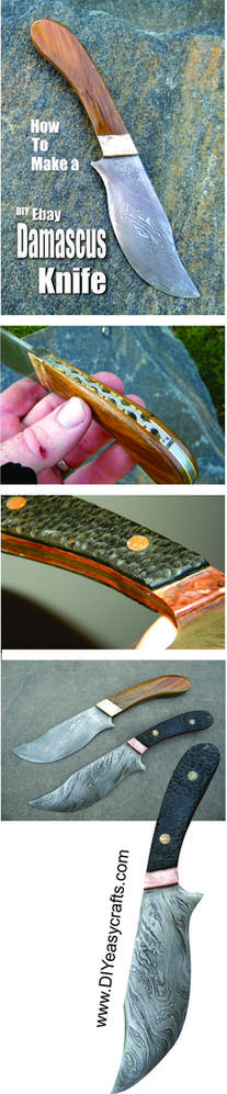 How to make a Damascus Steel kinfe. www.DIYeasycrafts.com