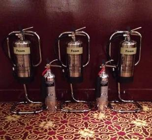 Chrome Fire Extingusihers