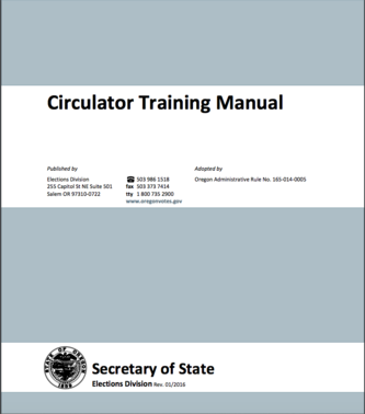 Oregon Circulator Training Manual