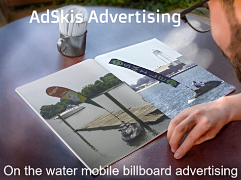 On the water mobile billboard advertising!