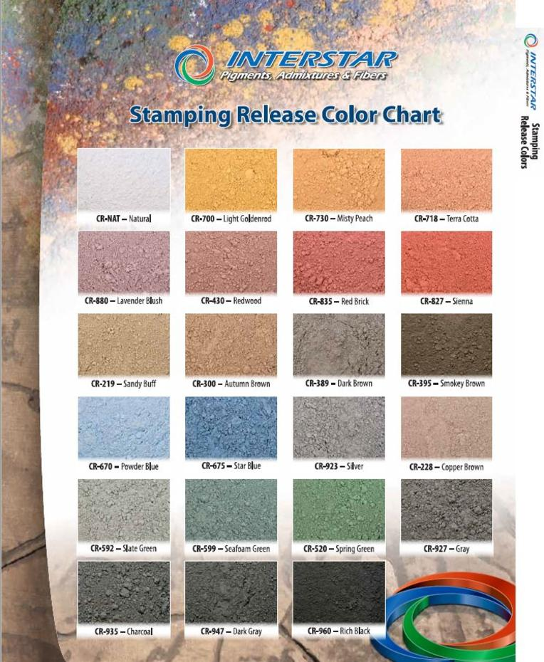 This Is The Accent Highlighting Color For Your Concrete And Will Be Seen In Impressions Of Grain Or Veins Stamp