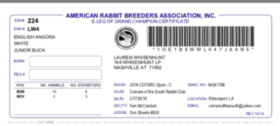 Lauren's Hoppin' Hares rabbitry