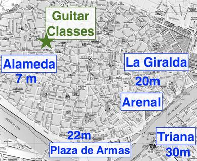 Spanish and classical guitar lessons in the center of Seville