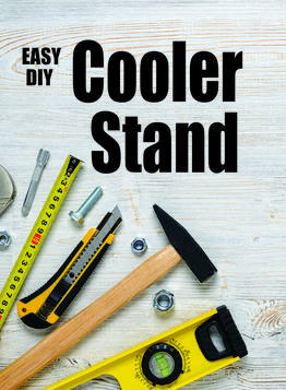How to make a PVC Cooler Stand. www.DIYeasycrafts.com