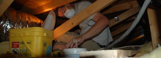 Our HVAC contractors in a Las Vegas, NV, attic
