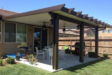 Kismet patio covers diy and installed wood grained aluminum patio covers the beauty of wood without the maintenance diy solutioingenieria Gallery