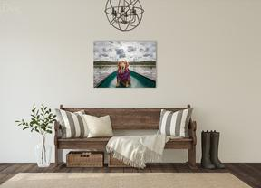 Picture of entry way with dog photos