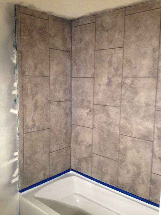 Old tile showers can present a messy problem  If you want to upgrade them   you have to tear the whole bathroom apart  right  Wrong. Concrete Shower   Artistic Countertops   Coatings Llc   Phoenix  Az
