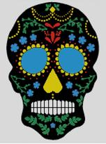 Cross Stitch Chart of Sugar Skull No 21