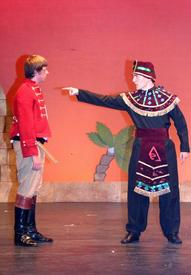 Mereb (James Price) and Radames (Lewis Mitchell)