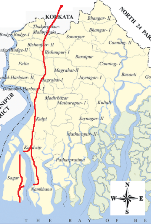 Road Map To Ganga Sagar