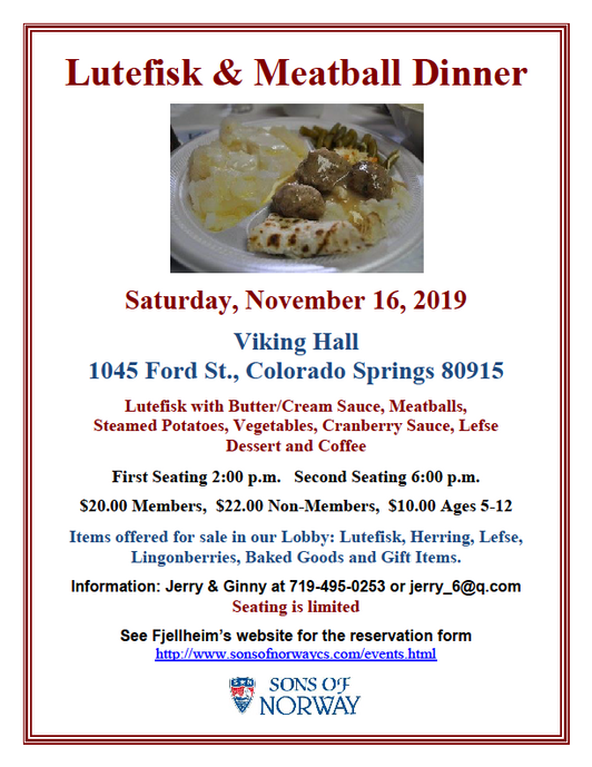 2019 Lutefisk Dinner