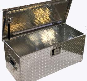 Aluminum Diamond Plate UTV Tool Box