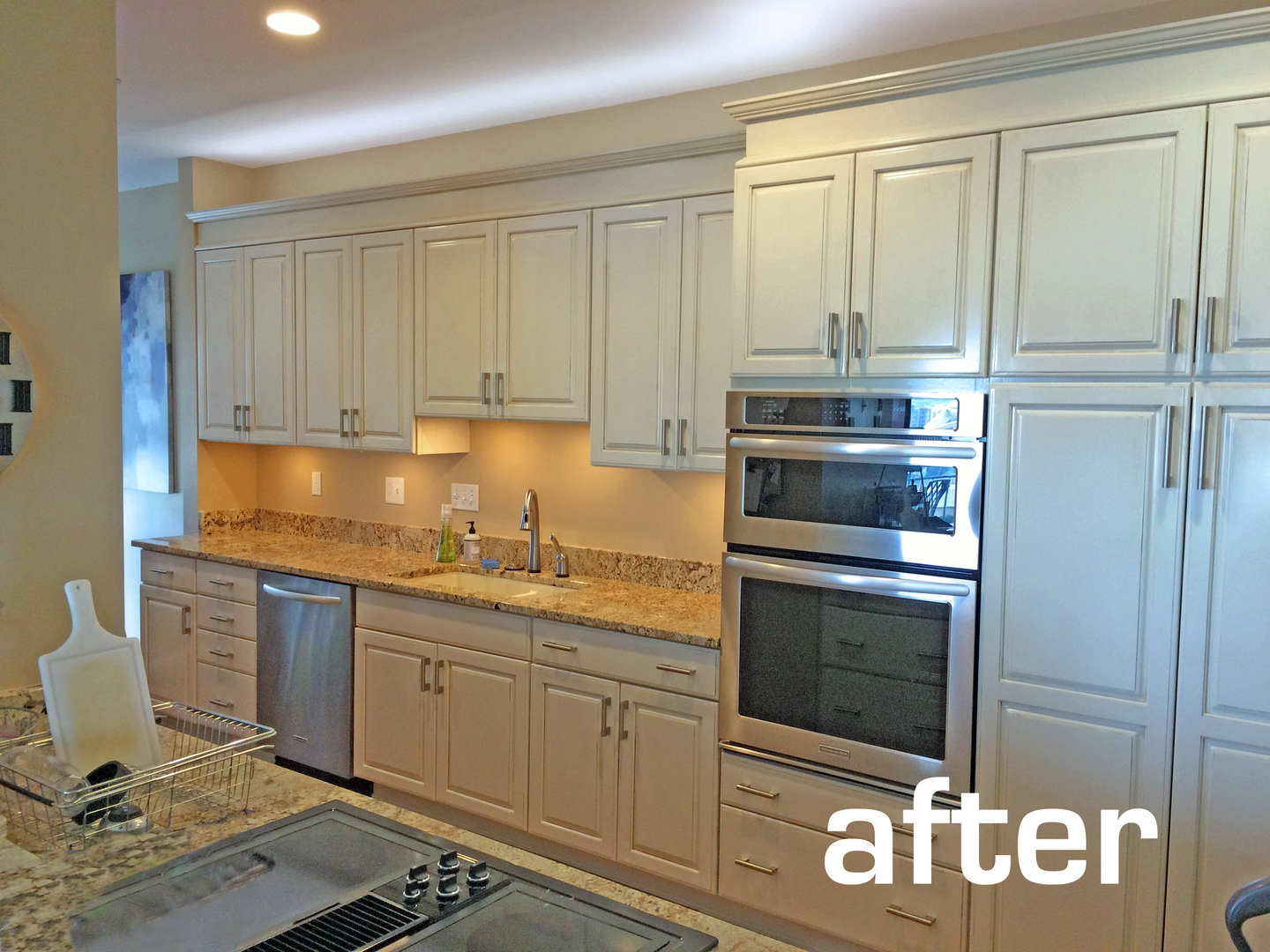 painting kitchen cabinets, remodeling existing kitchens and