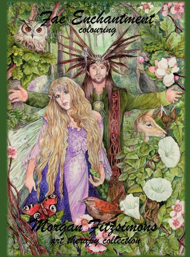 Fae Enchantment colouring book by Morgan Fitzsimons