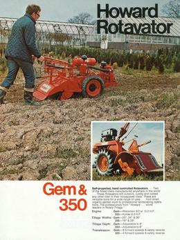 Howard Rotavator Gem & 350 Brochure