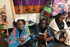 Students Reading their favorite books
