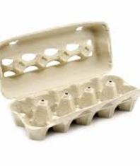 Egg cartons available in paper or plastic