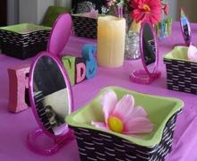 kids spa table setting