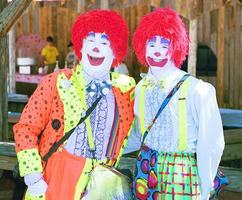 Clowns at a Nashville Company Picnic-Themed Event