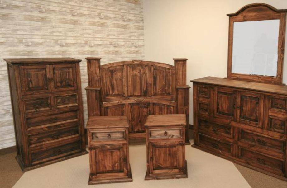 Furniture - Houston Texas Rustic Bedroom Set
