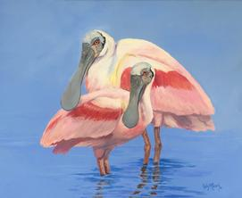 Buy Roseate Spoonbills by Kelly Reark on Etsy