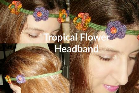 Tropical Flower Head Band