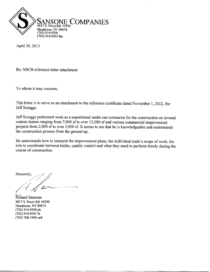 Construction Reference Letter Sample Image collections   Letter